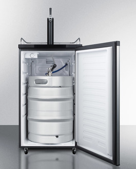 Model: SBC583SS | Summit Full keg capacity in a slim fit, with casters included