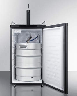 Model: SBC582B | Summit Full keg capacity in a slim fit, with casters included