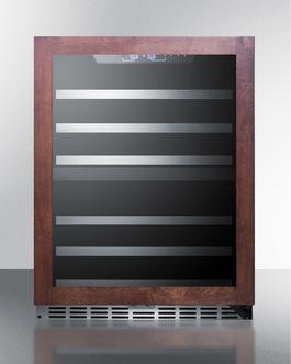 Full extension stainless steel trimmed wine shelves for easier storage