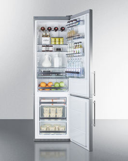 Model: FFBF181ES | Summit Made in Europe with stainless steel doors and an ENERGY STAR certified performance