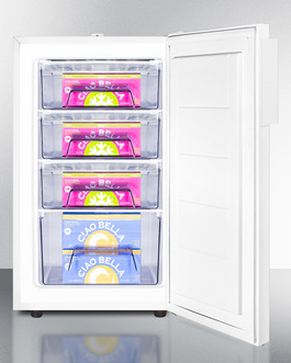 "Model: FS407LBIADA | Summit Slim 20"" fit with interior basket drawers for optimum cold storage"