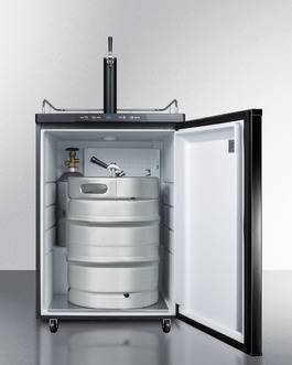 Model: SBC635M | Digital thermostat lets you set the ideal temperature for keg service