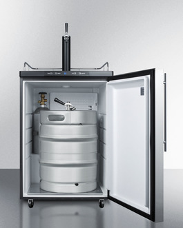 Digital thermostat lets you set the ideal temperature for keg service