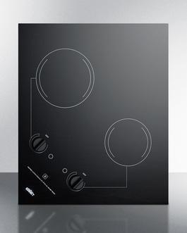 "Summit 21"" Wide 230V 2-Burner Radiant Cooktop"