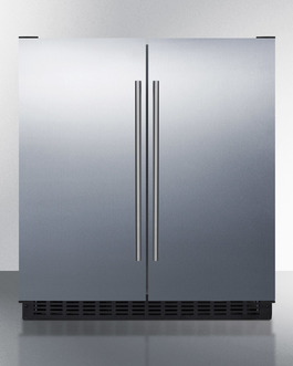 Summit Full frost-free operation in both the refrigerator and freezer