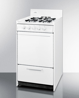 """Summit 20"""" wide wide gas range with battery start ignition"""