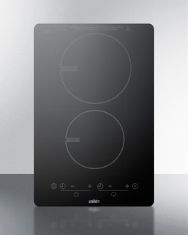 "Summit 13"" Wide 120V 2-Burner Induction Cooktop"