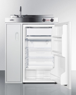 Refrigerator-freezer features automatic defrost operation for low maintenance use