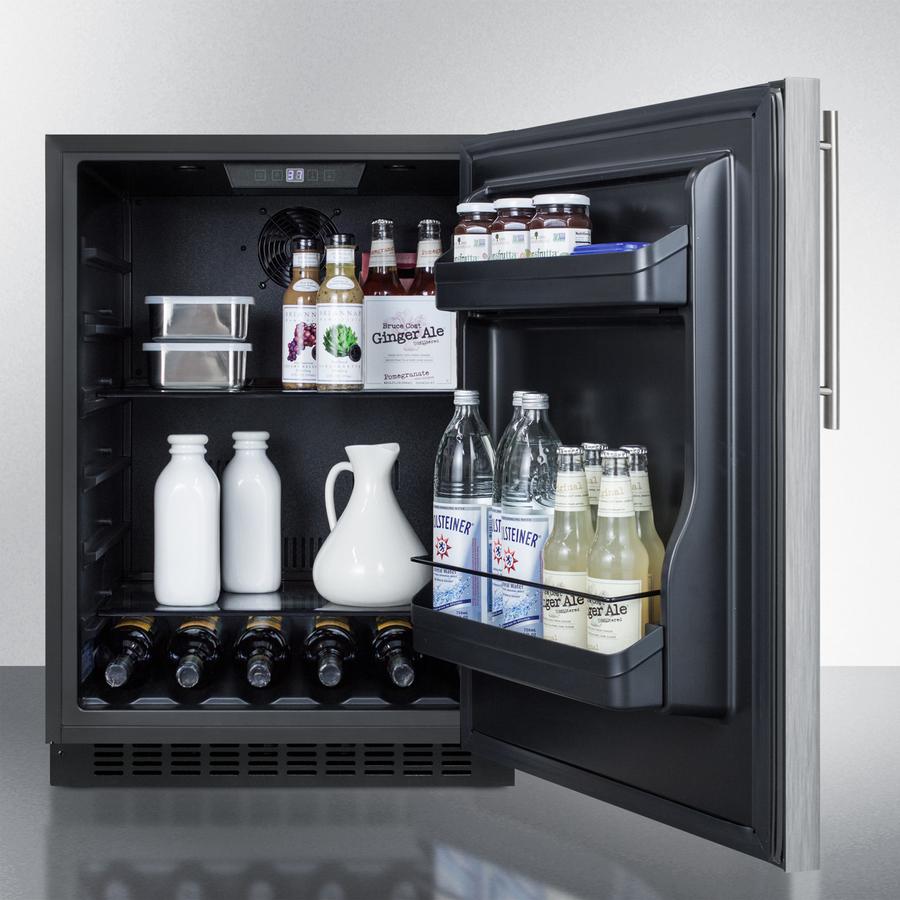 Model: AL54SSHV | Summit Built-in undercounter ADA compliant all-refrigerator