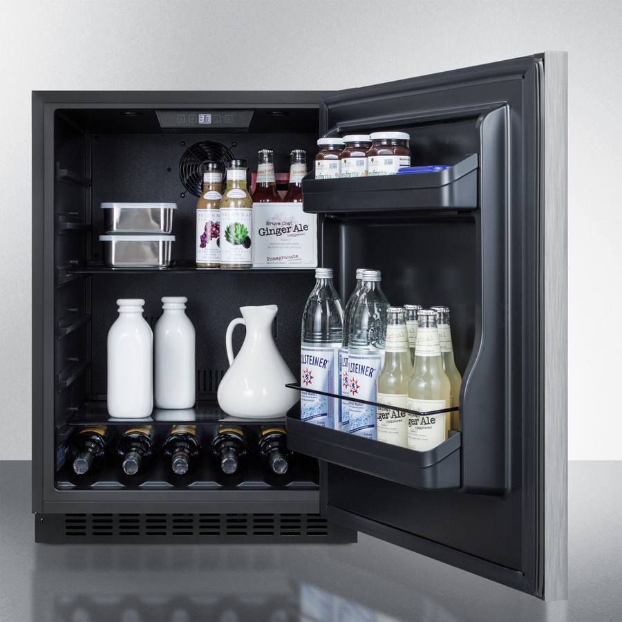 "Model: AL54SSHH | Summit 24"" Wide Built-In All-Refrigerator, ADA Compliant"