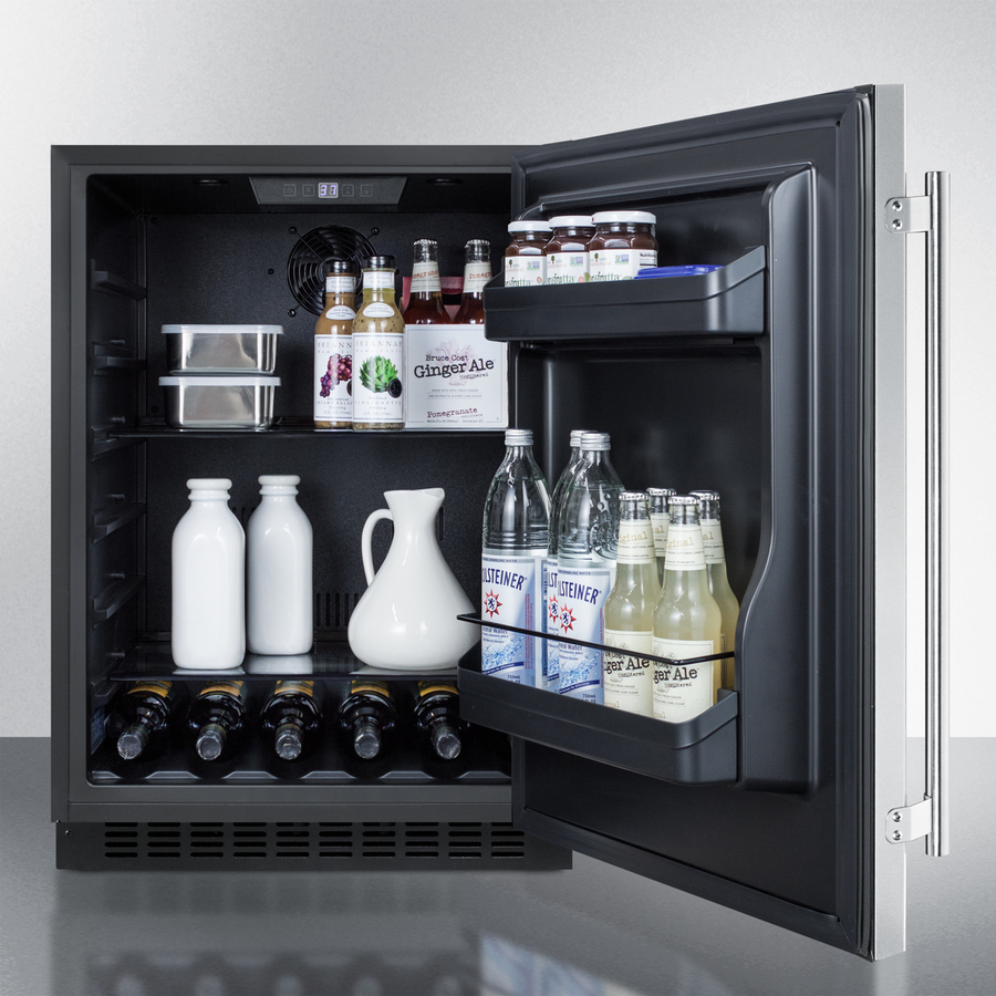 "Model: AL54CSS | Summit 24"" Wide Built-In All-Refrigerator, ADA Compliant"