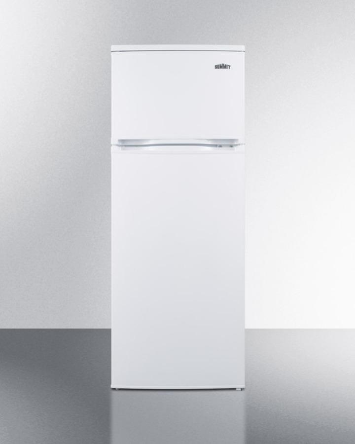 Two-door cycle defrost refrigerator-freezer in slim width; replaces CP96