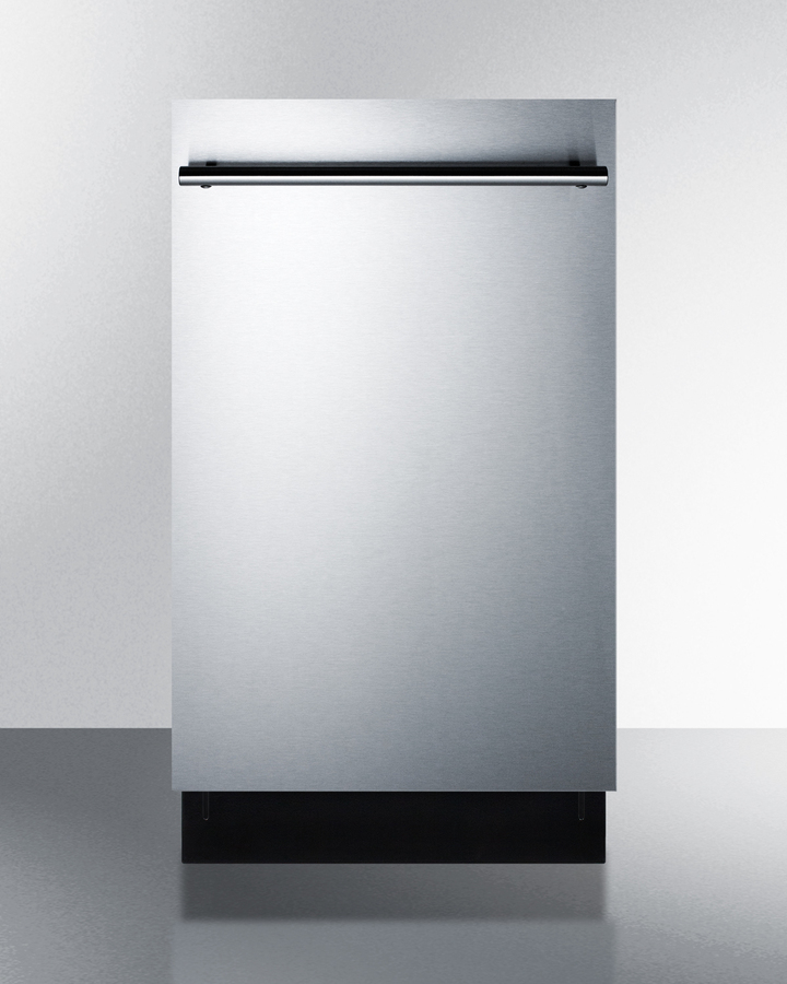 18' wide ADA compliant ENERGY STAR qualified dishwasher with stainless steel or panel-ready door, made in Europe