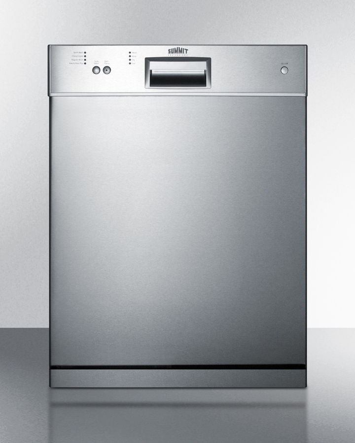 24' wide dishwasher with stainless steel door