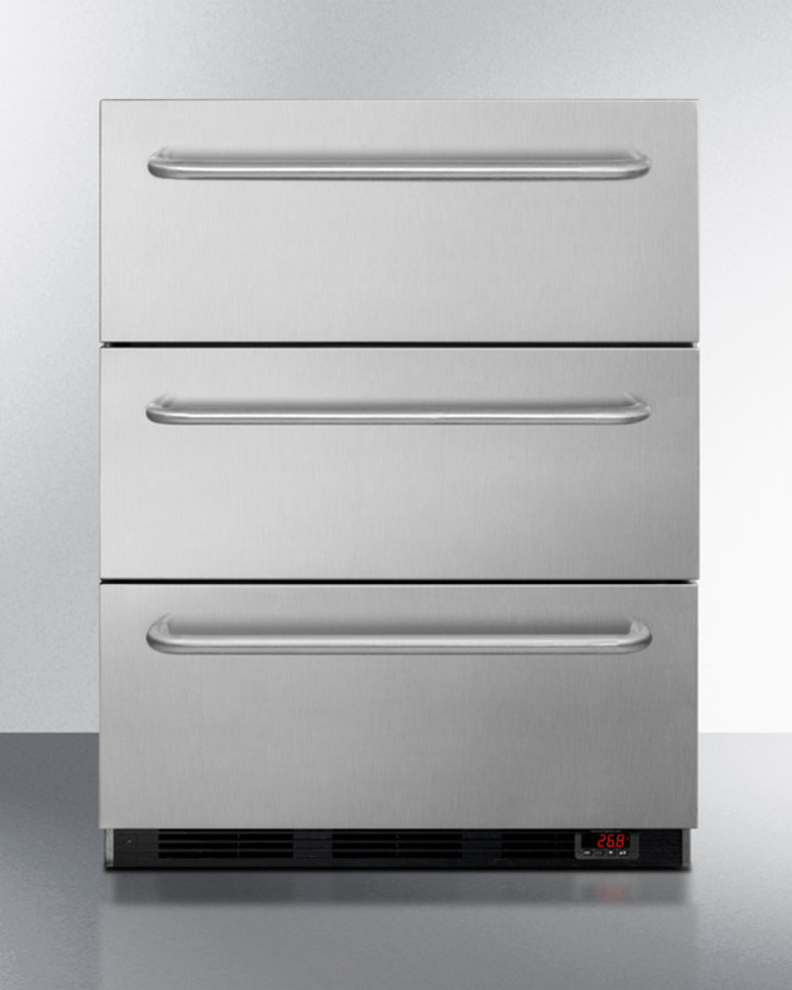 "Summit 24"" Wide 3-Drawer All-Freezer, ADA Compliant"