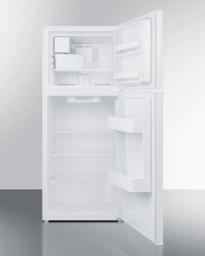 Model: FF1084WIM | Summit 24' wide 9.9 cu.ft. frost-free refrigerator-freezer in white finish with factory installed icemaker