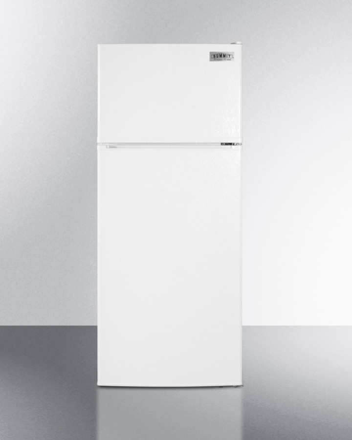 ADA compliant frost-free refrigerator-freezer in white with icemaker
