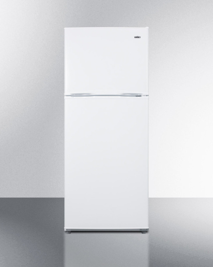 24' wide 11.5 cu.ft. frost-free refrigerator-freezer in white finish with factory installed icemaker