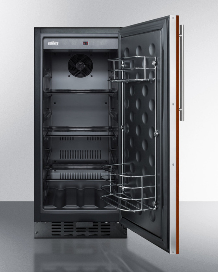 Model: FF1532BIF   Summit 15' wide all-refrigerator for built-in or freestanding use with integrated frame for overlay panels; replaces FF1538BIF