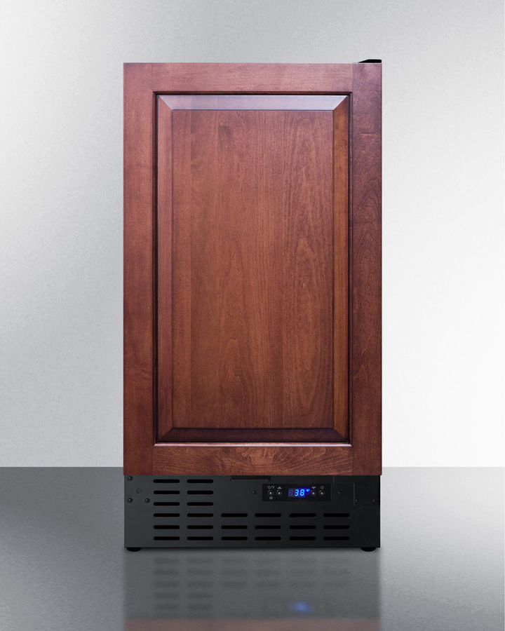 18' wide built-in undercounter all-refrigerator with a panel-ready door, digital thermostat and front lock