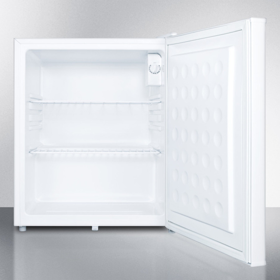 Model: FF28LWH | Compact all-refrigerator with automatic defrost, front-mounted lock, and white finish; Replaces FF28L