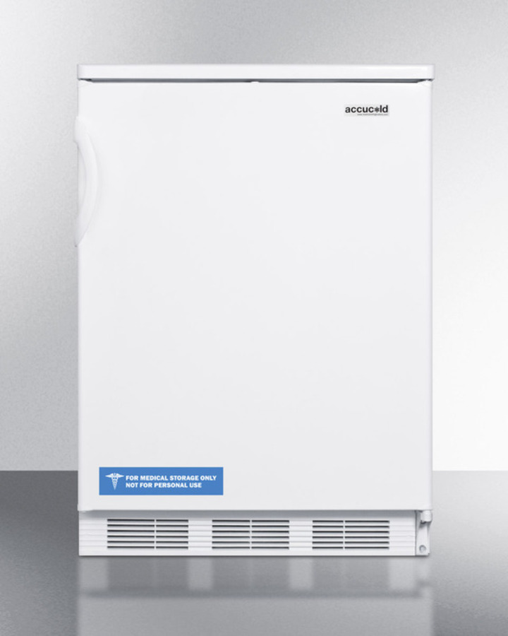 Commercially listed built-in undercounter all-refrigerator for general purpose use, with automatic defrost operation and white exterior