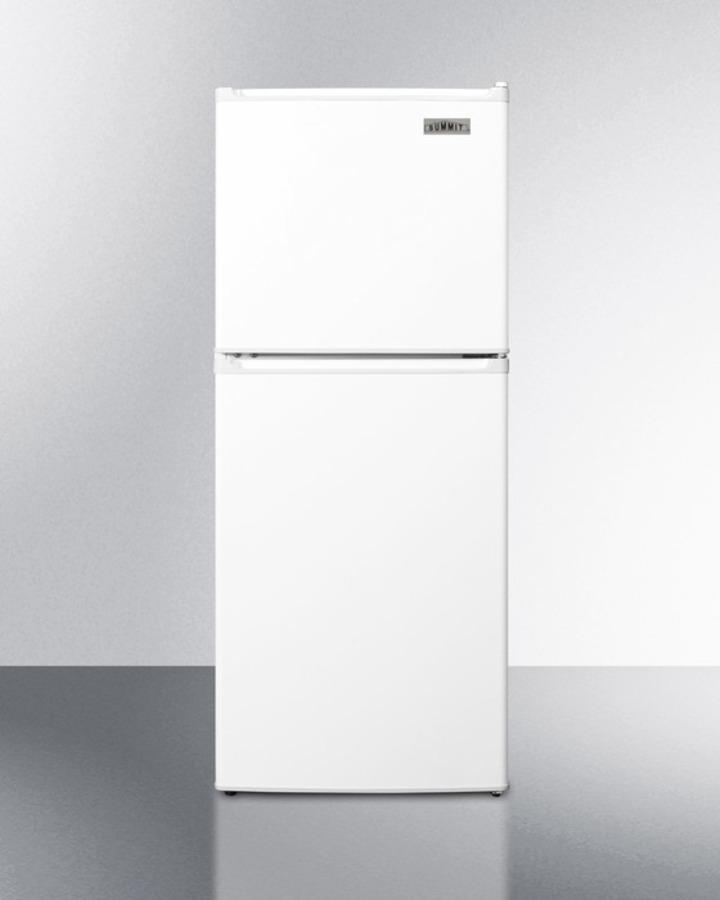 Two-door ENERGY STAR qualified refrigerator-freezer in 46' ADA compliant height