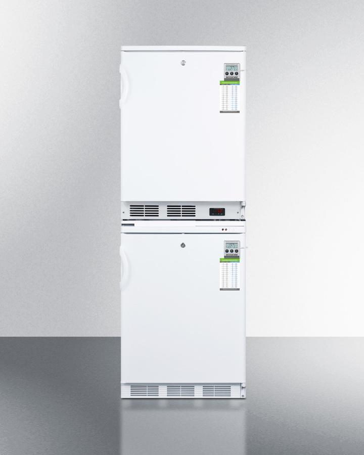 Stackable refrigerator-freezer combination