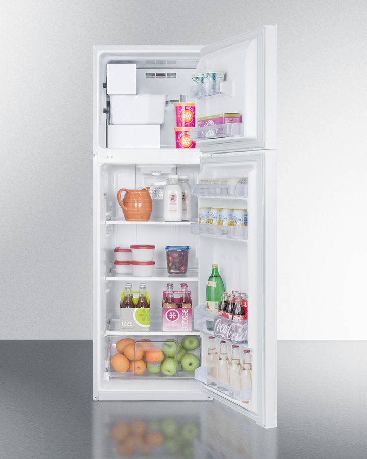 Model: FF946WIM | Summit 8.8 cu.ft. frost-free refrigerator-freezer in white, with factory installed icemaker