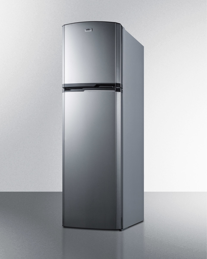 Model: FF948SS | Summit 8.8 cu.ft. frost-free refrigerator-freezer with platinum cabinet and stainless steel doors