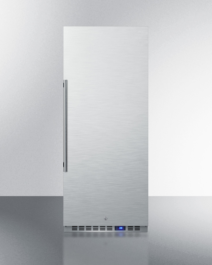 Model: FFAR121SS7 | Summit 10.1 cu.ft. commercial all-refrigerator with stainless steel interior and exterior, digital thermostat, lock, and automatic defrost operation