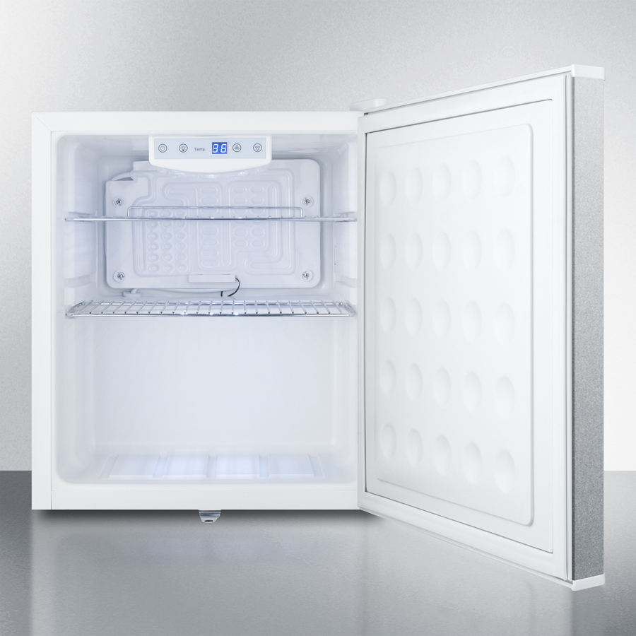 Model: FFAR25L7CSS | Summit Commercial style compact all-refrigerator in white with digital thermostat