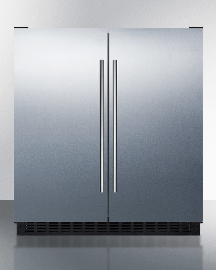 Full frost-free operation in both the refrigerator and freezer