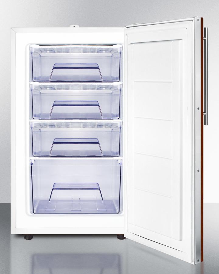 "Model: FS407LBIIFADA   Summit 20"" Wide Built-In All-Freezer, ADA Compliant"