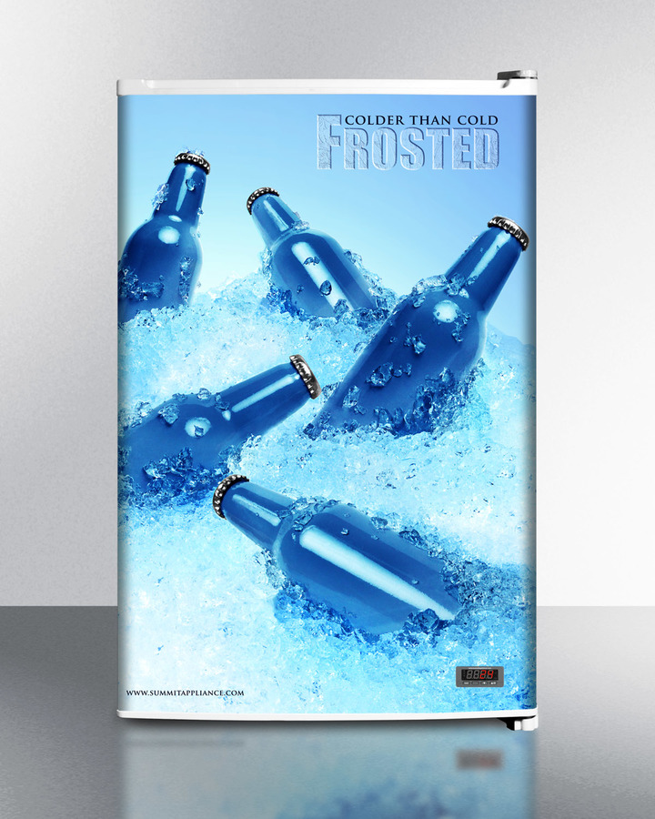 COLD CAVERN beer froster, SUMMIT's counter height freezer that stores aluminum bottled beer at 24ºF; replaces FS60MFROST