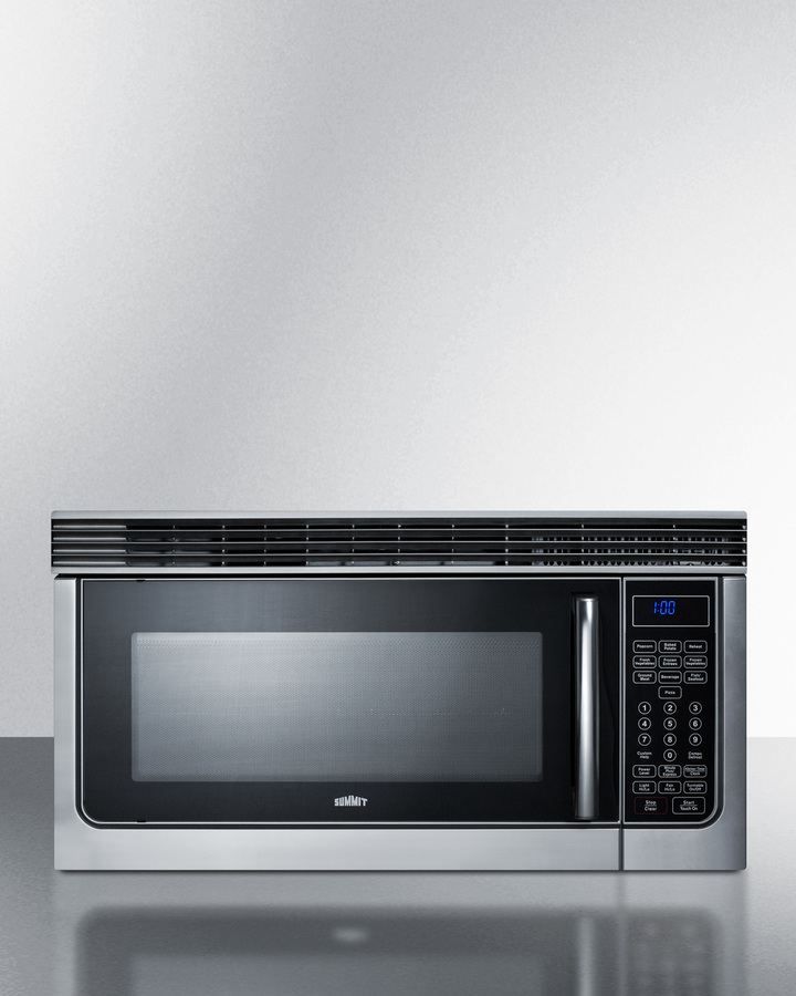 30' wide over-the-range microwave in stainless steel