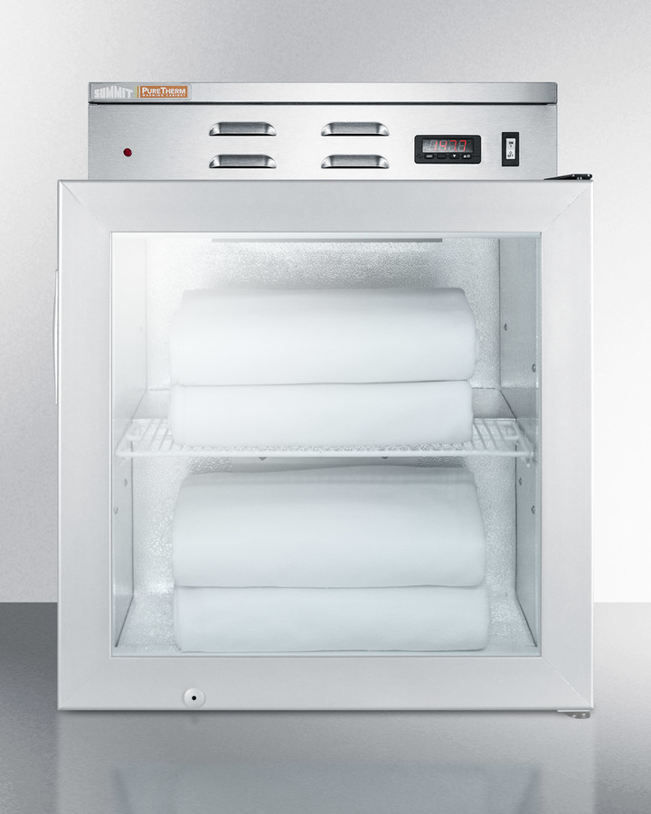 Model: PHC51G | Summit Single chamber compact warming cabinet with glass door, digital thermostat, and lock