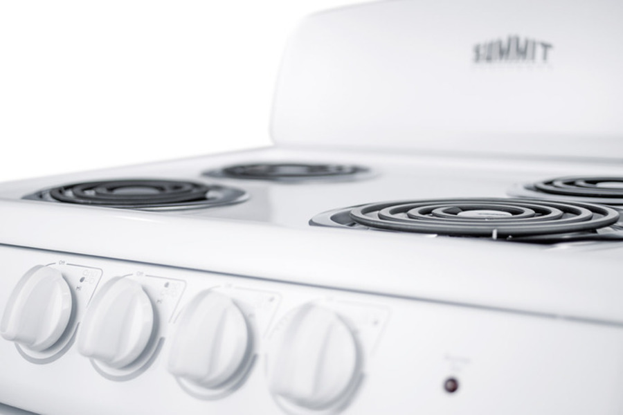 Summit Re241w 24 Wide Electric Range In White Finish