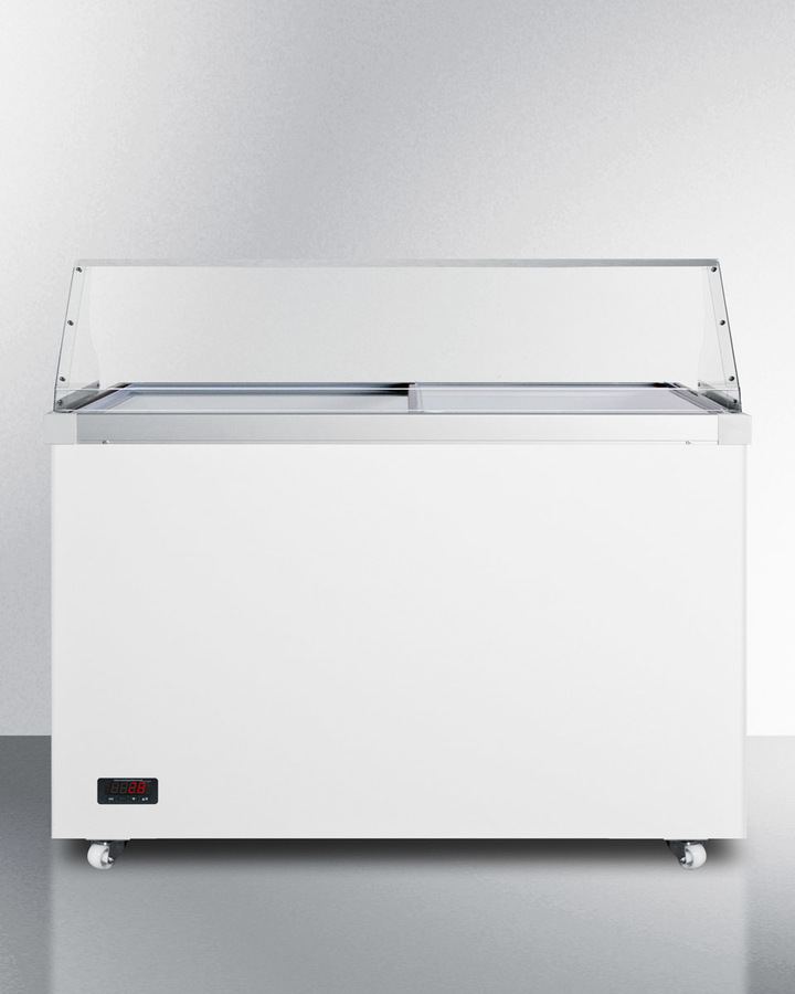 50' wide dipping cabinet with polycarbonate sneezeguard