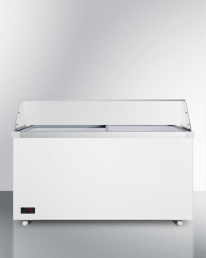62' wide dipping cabinet with polycarbonate sneezeguard and digital thermostat