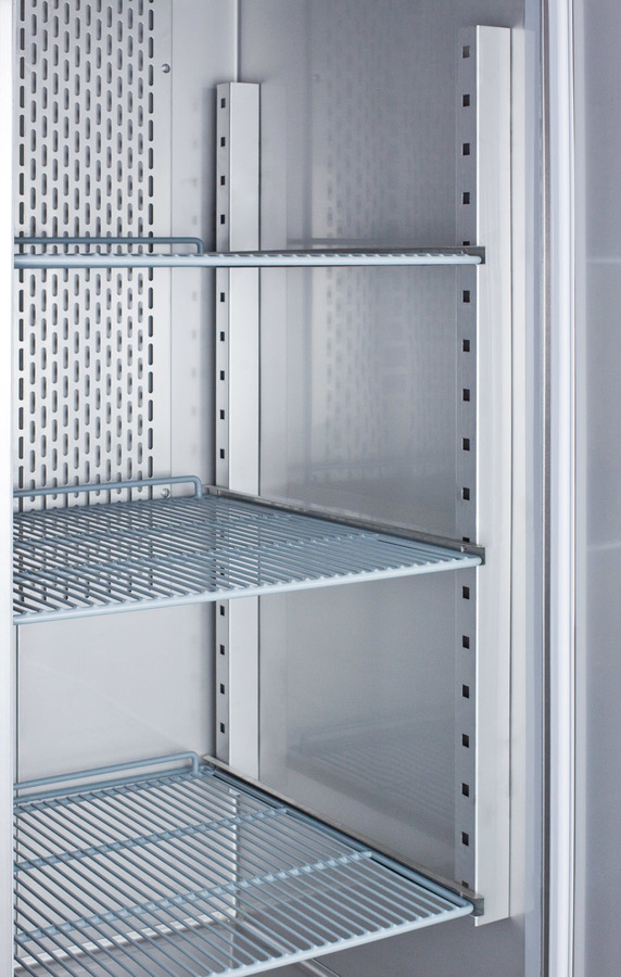 Commercially approved 23 cu.ft. reach-in refrigerator in complete stainless steel; replaces SCRI230