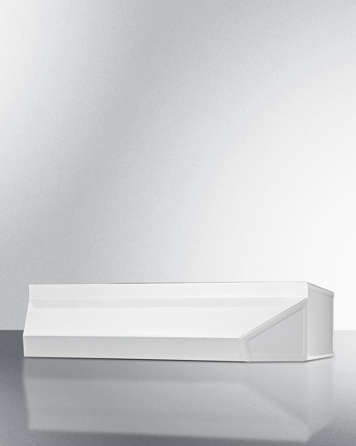 30' wide range hood in white