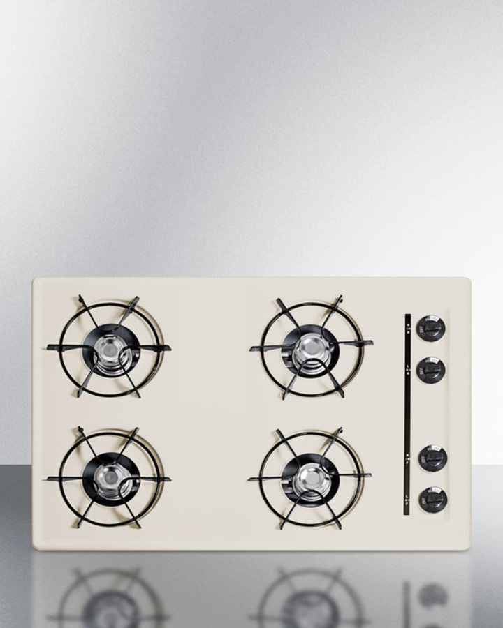 30' wide cooktop in bisque, with four burners and gas spark ignition; replaces STL053