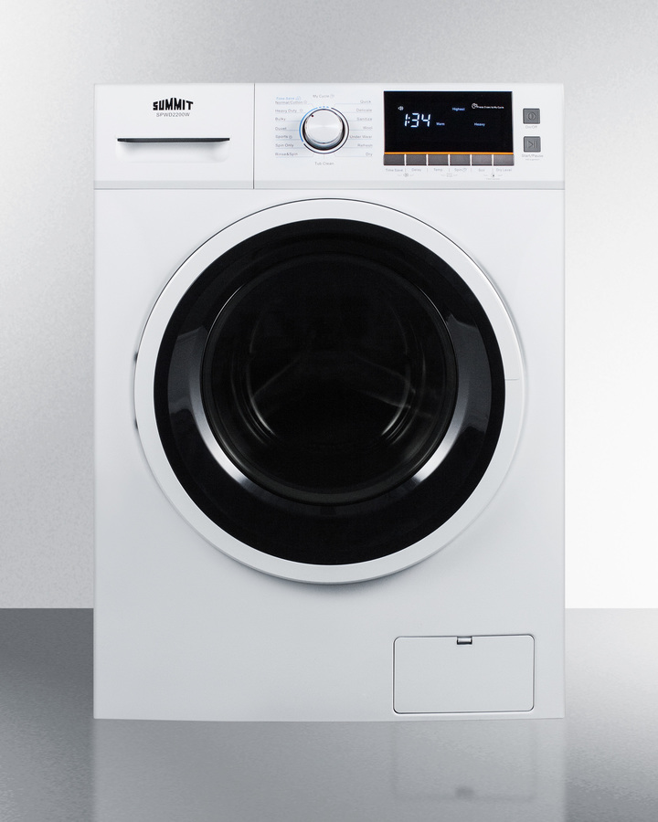 24' wide washer/dryer combo for non-vented use, with 15 lb. wash capacity; replaces SPWD2200