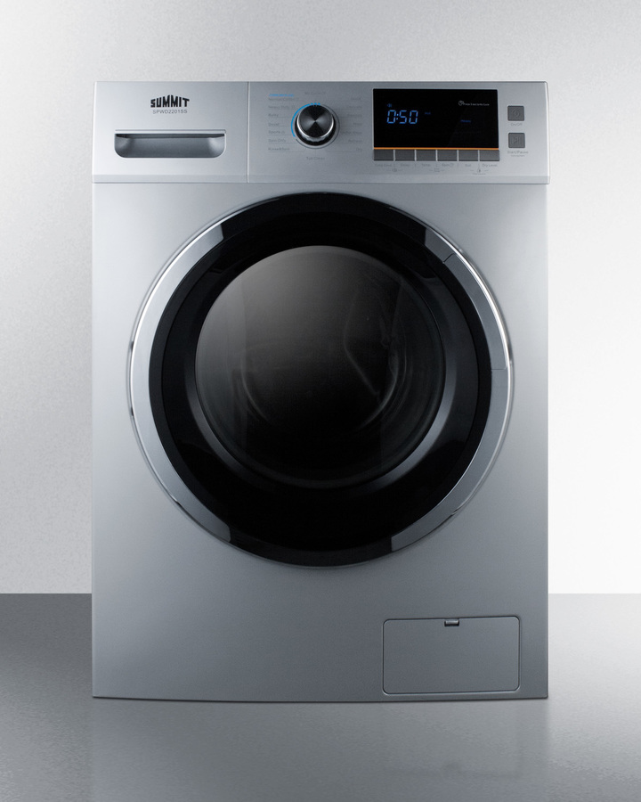 24' wide 115V washer/dryer combo for non-vented use in platinum finish