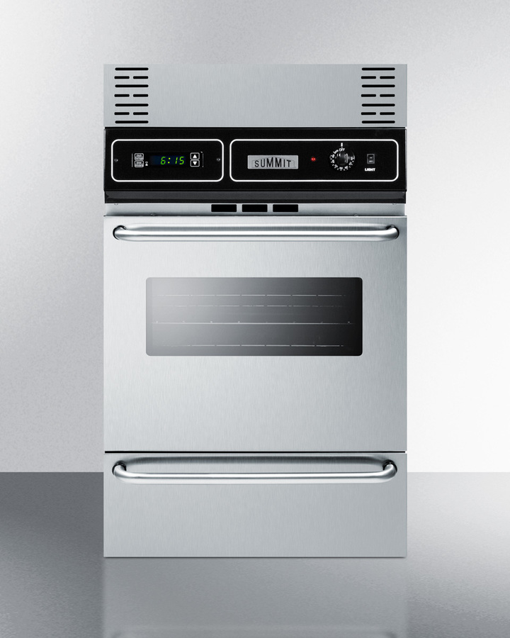 Model: TKW700SS | Summit Wall oven trim kit in stainless steel to extend overall height to 39'