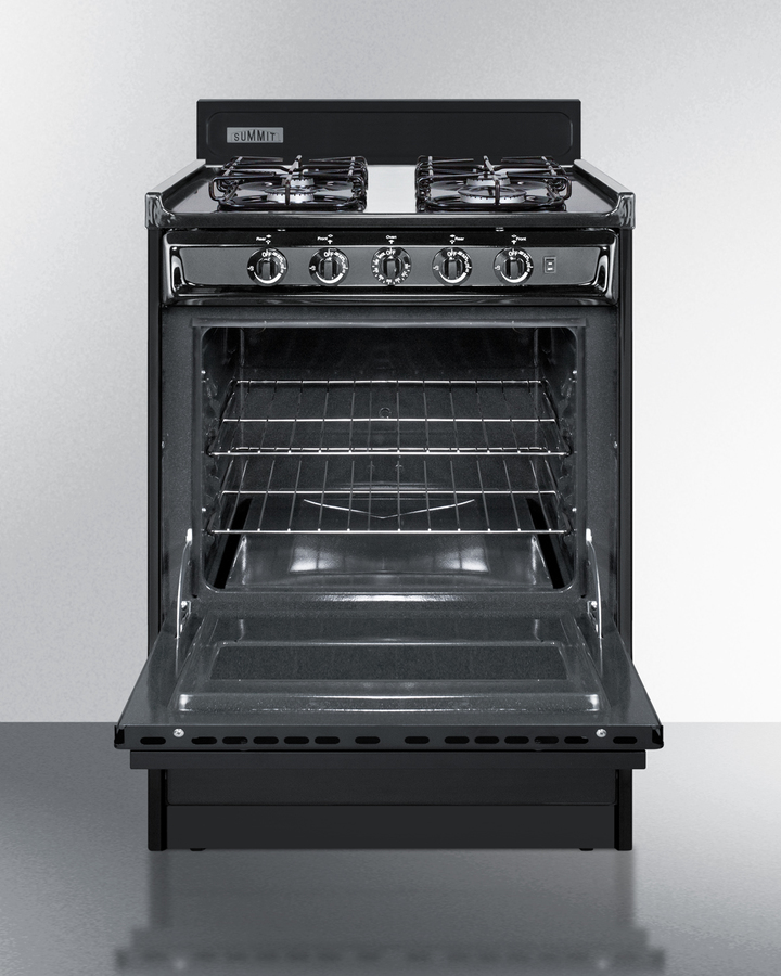 Summit Ttm6107cs 24 Quot Wide Gas Range In Black With