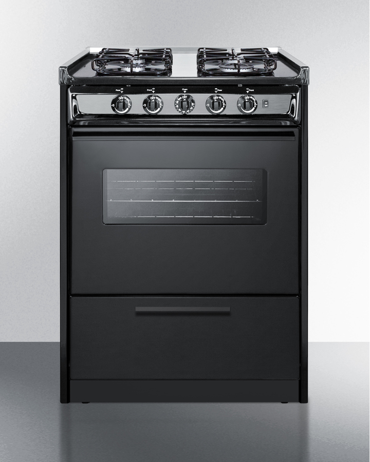 24' wide slide-in gas range in white with sealed burners, oven window, light, and electronic ignition; replaces TNM616RW