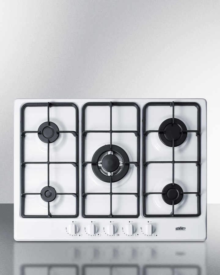5 sealed burners to maximize cooking capacity with less counter space