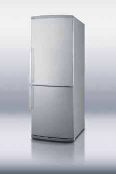 ENERGY STAR qualified refrigerator-freezer with bottom freezer, frost-free operation and stainless steel door